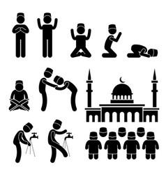 Islam muslim religion culture tradition stick vector