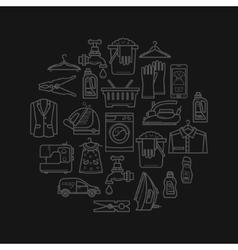 Laundry Design Elements vector