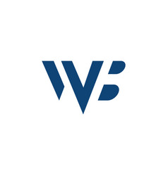 Logotype letter wb simple logo template vector