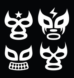 lucha libre faces design luchador graphics vector image