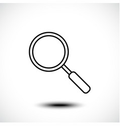 Magnifying glass or search line icon vector