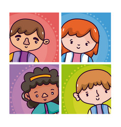 man and woman cartoons vector image