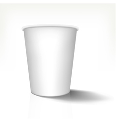 Mock up of realistic paper cup in front view vector image