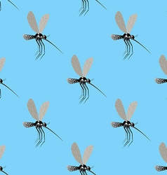 Mosquito seamless pattern Texture of the insects vector image