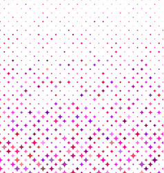 Multicolored abstract curved star pattern design vector
