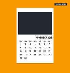 November 2015 calendar vector