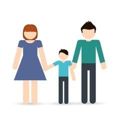 Parents and boy icon Avatar Family design vector