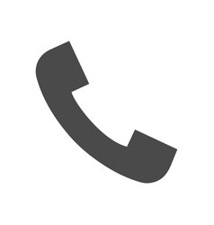 phone call solid icon vector image