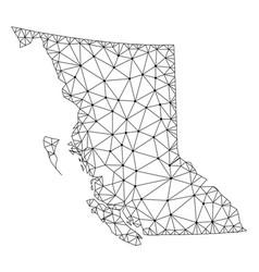 Polygonal network mesh map of british vector