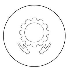 Preventative maintenance icon black color in vector