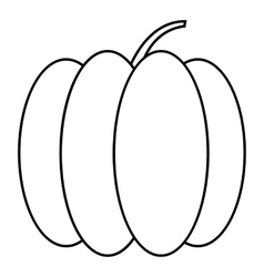 Pumpkin icon outline style vector
