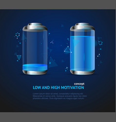 realistic detailed 3d low and high motivation vector image