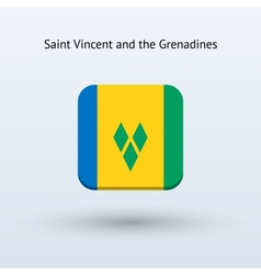 Saint Vincent and the Grenadines flag icon vector image