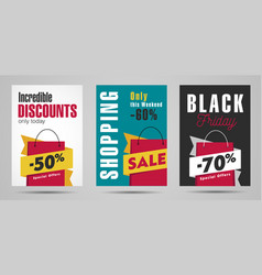 sale posters set with clean minimal graphic and vector image