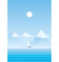 sea nature vector image