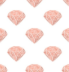 Seamless patern of vintage diamonds vector