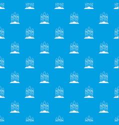 Serfing board pattern seamless blue vector