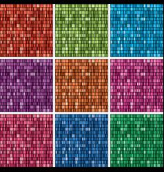 set 2304 unique rainbow colors gradient vector image