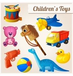 Set of kids toys vector image