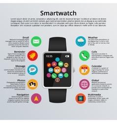 Smartwatch flat design vector image