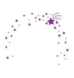 stars ornament icon vector image