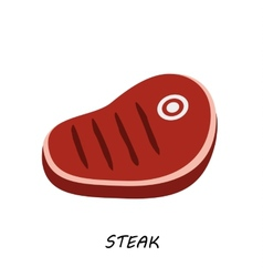 steak chop meat a piece of meat cuts vector image