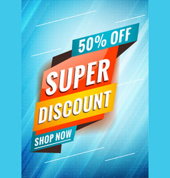 super discount promotional concept template for vector image
