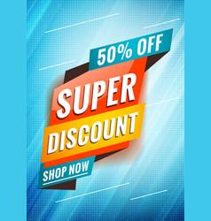 Super discount promotional concept template vector