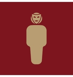 The anonym icon Unknown and faceless impersonal vector image