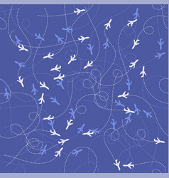 track of planes seamles pattern vector image