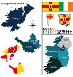 Ulster province ireland vector