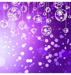 Violet Christmas Bauble Background vector image