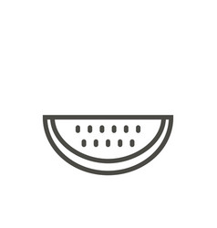 watermelon icon outline fresh food line w vector image