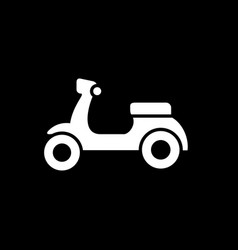 white motorcycle scooter silhouette vector image