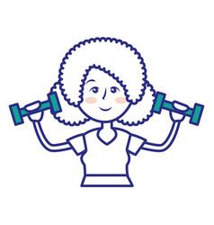 Women fitness cartoon vector