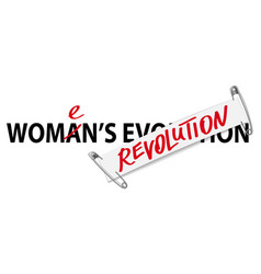 Womens revolution fashion print on white vector