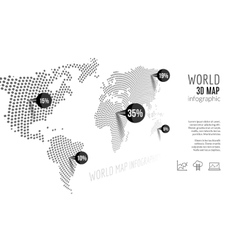 World map infographic 3D map concept with vector