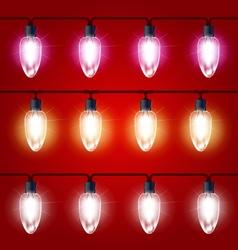 Christmas Lights - festive luminous garland vector image vector image