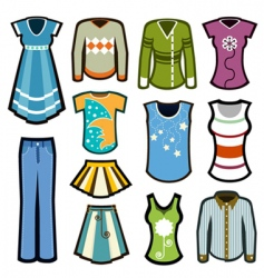 fashion woman icons vector image