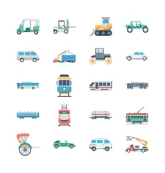 Transports Colored Icons 3 vector image vector image