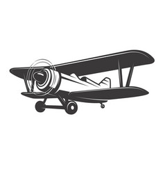 vintage plane isolated on white vector image