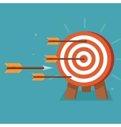 Achievement goals concept vector