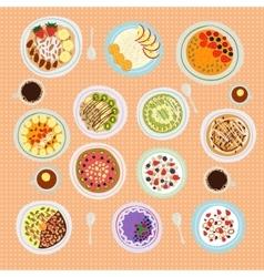 Breakfast cereal porridge vector