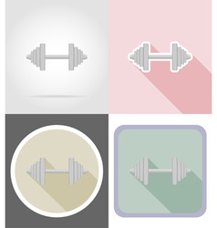 fitness flat icons 01 vector image vector image