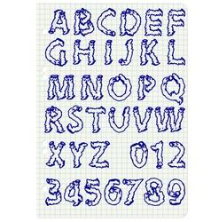 Hand drawing alphabet set in black ink vector image vector image