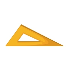 rule triangle school isolated icon vector image
