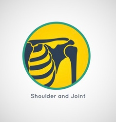 Shoulder and joint logo vector