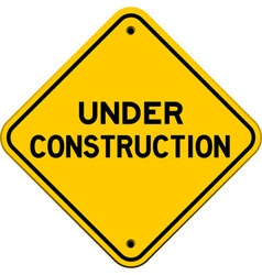 under construction yellow sign vector image vector image