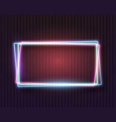 vintage neon frame vector image