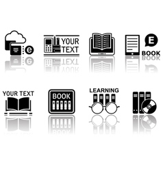 book concept symbols with reflection vector image vector image